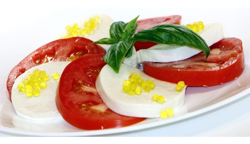 Caprese salad with Basil Olive oil