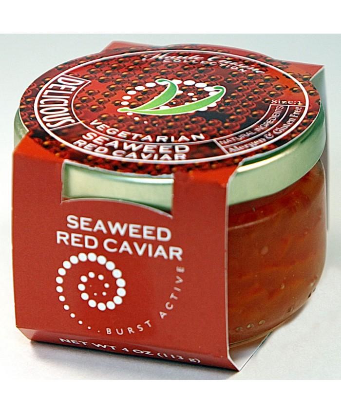Seaweed Vegetarian/Vegan Red Caviar Pearls