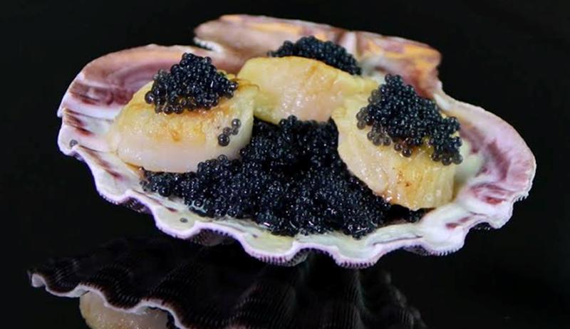 Black Caviar with scallops