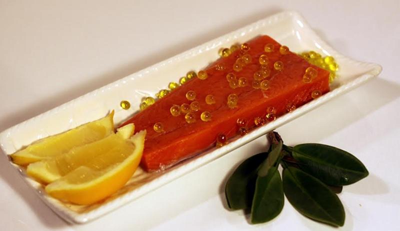 Salmon fried dish