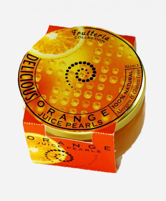Orange juice pearls