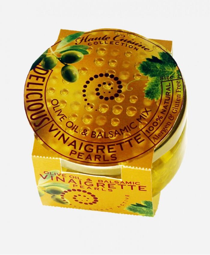 Vinaigrette Pearls (Olive oil & Balsamic vinegar Mix)